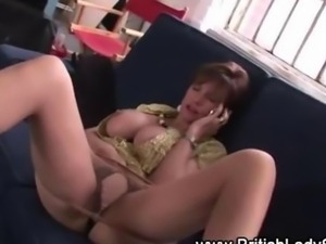 Lady Sonia masturbating as the bandit comes in