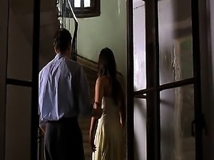 Jordana Brewster removing her dress to reveal her breasts
