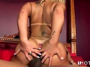 Big booty Brazilian babe taking it up the ass hard