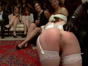 Bdsm spanking for a young bride