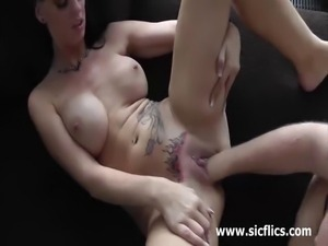 Hot amateur milf loves having her loose vagina fisted and stretched till she...