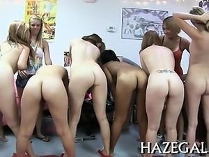 Lesbians caressing on webcam
