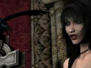 3D Hentai Big Tits Elf Interracial Sex Fantasy