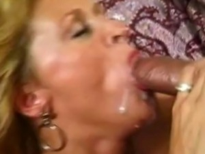 Sexy bitch gets a hard first time ass fucking then gets a nice load on lips.