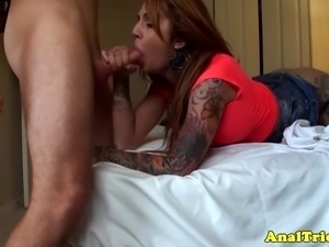 Anal loving pierced tattooed amateur enjoys rough doggystyle