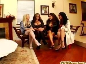 CFNM lingerie group fun with Persia Pele