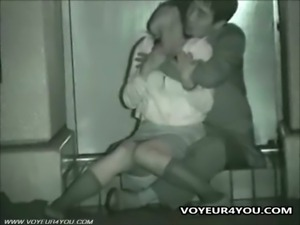 Asian couple enjoy some naughty public sex
