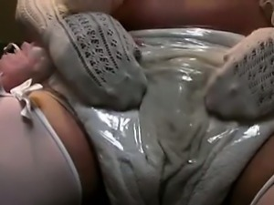 wetting diaper ...