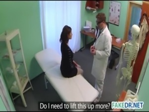 Brunette babe at fake hospital free