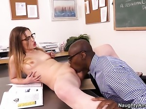 Sean Michaels is one hard-dicked stud who loves screwing Sasha Swift with...