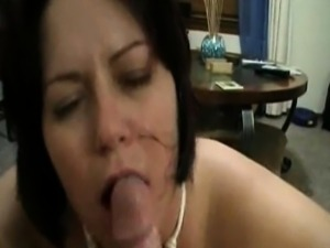 Mature mom gets facial