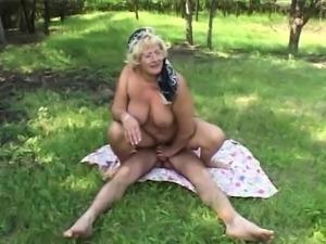 Big tit mature granny fucks