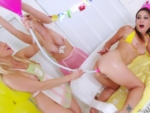 ashely gets a face full of milk @ cream dreams #03