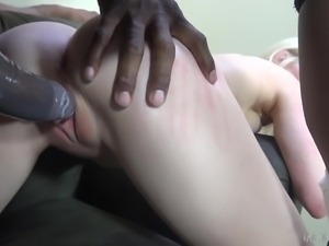 bitch banged hard by angry black cock