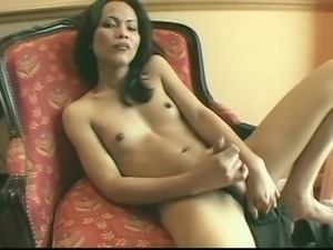 Shemale Stroking 14