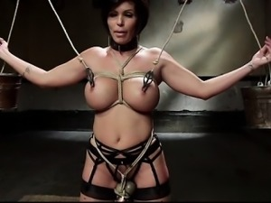 Wet girl bondage squirt