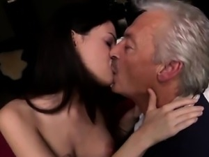 Horny senior Bruce catches sight of a super-cute damsel sitt