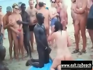 Interracial orgy on the Nude Beach free