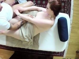 Massaged redhead lured