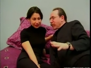 Ed Powers interviews a very sexy brunette