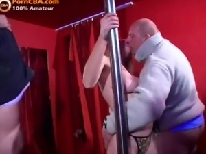 Real amateur gangbang party in Hungarian swinger club