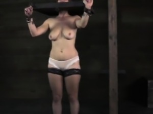 Stocked submissive slut getting punished