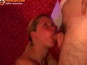 Young 18yr old blonde blowjob in swinger club