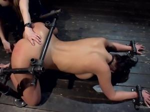helpless brunette becomes a sex slave
