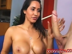 Oiled indian beauty with luscious boobs