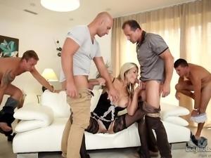 klarisa gets fucked by 4 sexy men @ 4 on 1 gang bangs #04