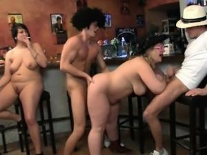 Wild bbw group orgy
