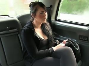 British bbw fucked in fake taxi in public