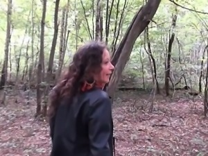 Omelia gangbanged in a forest