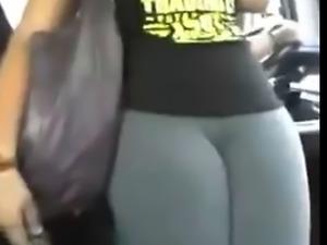 Cameltoe in bus