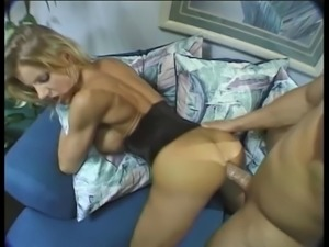 Incredible blonde gets her tight asshole pounded and her face covered in cum