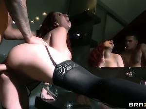 Clover wants to fuck sex starved Kelly Divines hot mouth forever after anal sex