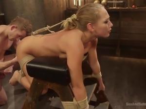 blonde chic getting bdsm treatment