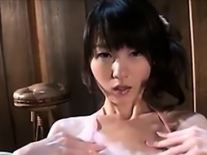 Japanese Babe Plays With Light Non Nude
