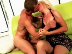 Granny and young man enjoying nasty sex