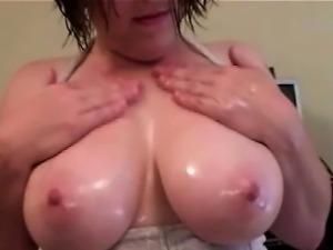 Big Tit hobbyist Femdom does mean handjob