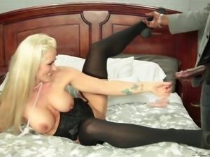 hot blonde badly needs it black @ evil milfs