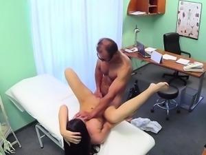 Doctor fucking beautiful amateur in fake hospital