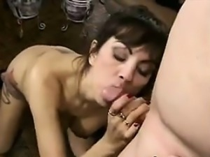 MILF Loves Sucking On His Large Cock