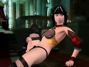 3D animated shemale self masturbating and assfucking