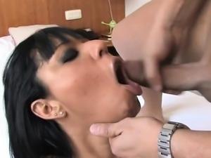 Sexy Hausfrau cum drinking