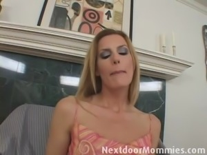 Blonde mom fingered and ass fucked