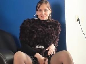 Mature Woman Wearing Panties And Nylons