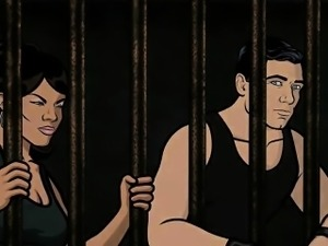 Archer Porn - Jail sex with Lana