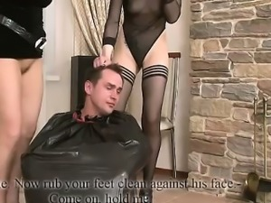 Two Mistresses Humiliating a Guy