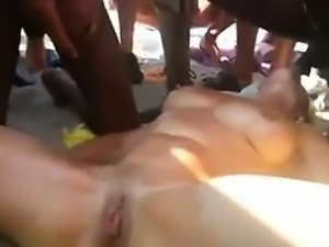 Slut Squirting In Public At The Beach